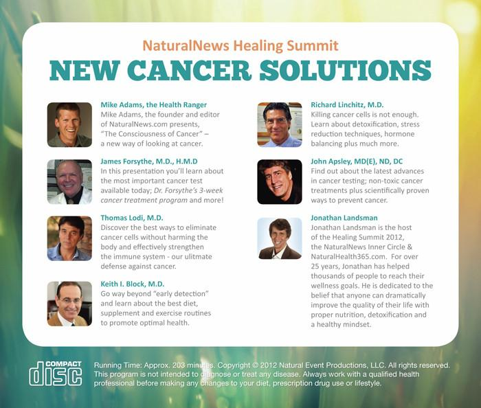 New Cancer Solutions CD set featuring James Forsythe and more
