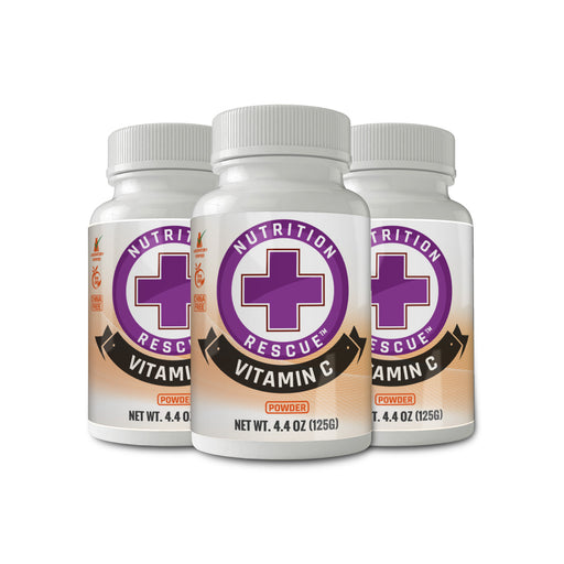Health Ranger's Nutrition Rescue Non-GMO Vitamin C Powder 125 grams (3-Pack)