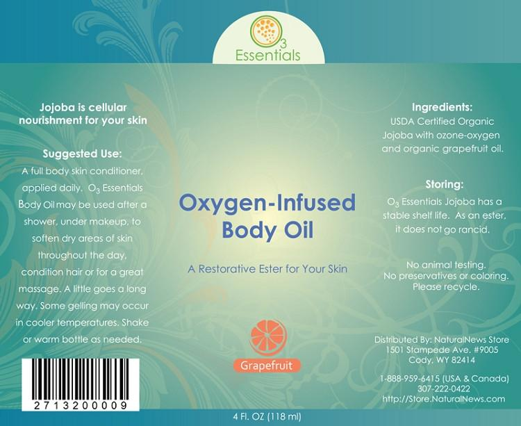 Oxygen-Infused Body Oil - Grapefruit 4 oz. (118ml)