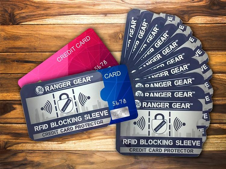 RFID Blocking Sleeve Pack (10 Credit Card and 2 Passport Protectors)