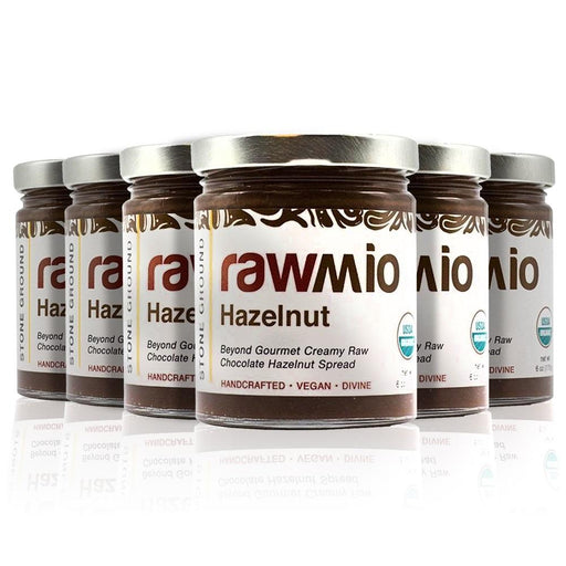 Rawmio Hazelnut - Beyond Gourmet Creamy Raw Chocolate Hazelnut Spread 6oz (6-Pack)
