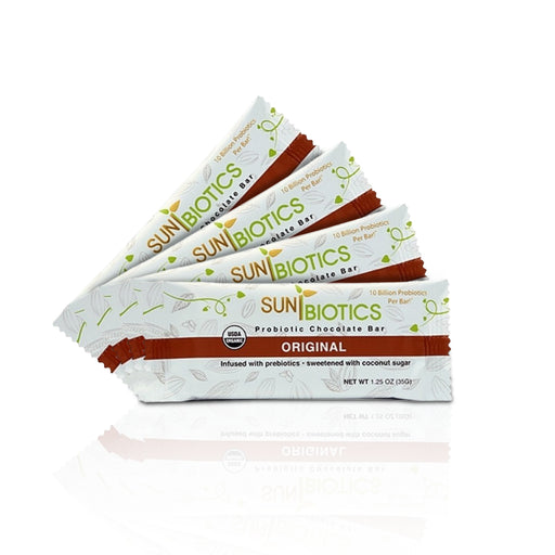 Sunbiotics Organic Probiotic Chocolate Bars (4 pcs/ pack)
