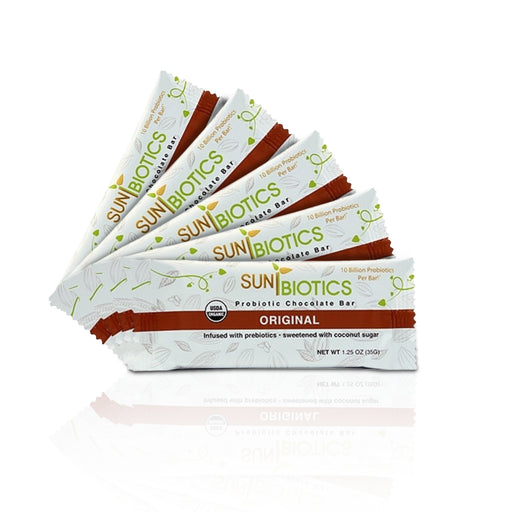 Sunbiotics Organic Probiotic Chocolate Bars (5 pcs/ Pack)