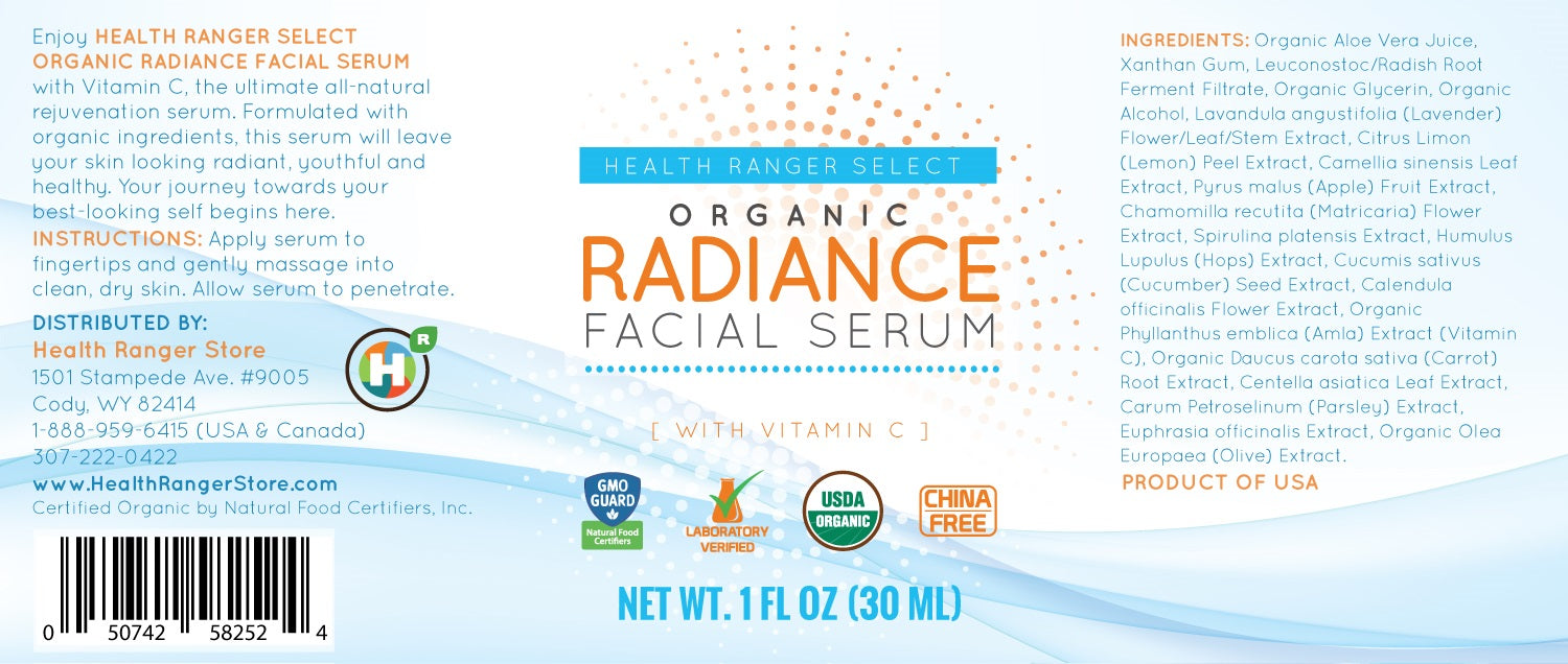 Organic Radiance Facial Serum 30ml (1 fl oz)