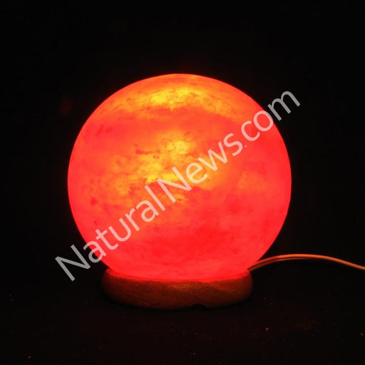 Himalayan Crystal Salt Lamp SPHERE shape with FREE dimmer