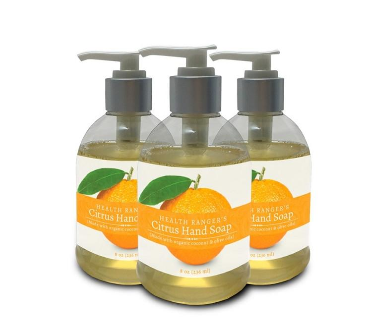 Health Ranger's Citrus Hand Soap 8oz (3-Pack)