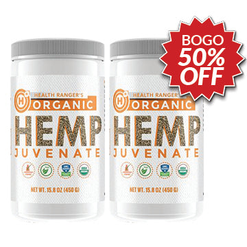 BOGO 50% OFF PROMO - 2X Health Ranger's Organic Hemp Juvenate 450g (15.8 oz)