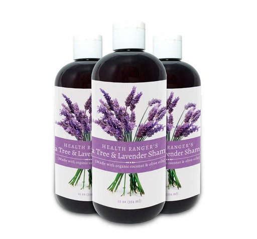 Health Ranger's Tea Tree and Lavender Shampoo 12 oz (3-Pack)