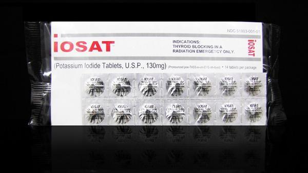 iOSAT Potassium Iodide Tablets 130 mg (FDA approved) (12-Pack)