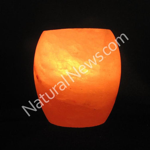 Himalayan Crystal Salt Tea Light DHOLKI shape