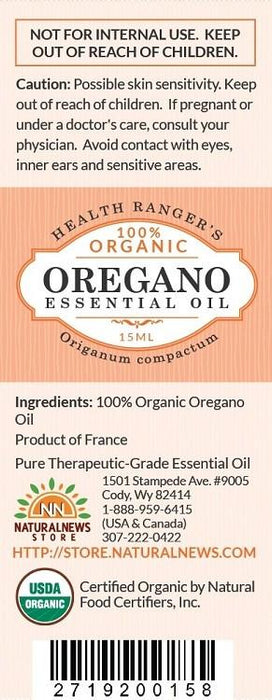 100% Organic Oregano Essential Oil 0.5oz (15ml)