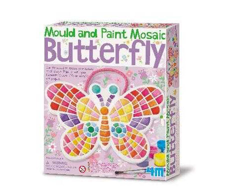 4M Mould and Paint Mosaic Butterfly Kids DIY Arts & Craft Kit
