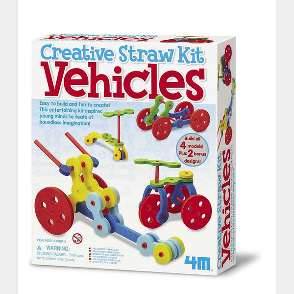 4M Creative Straw Kit Vehicles