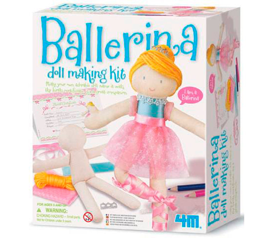 4M Ballerina Doll Making Kids DIY Arts & Craft Kit