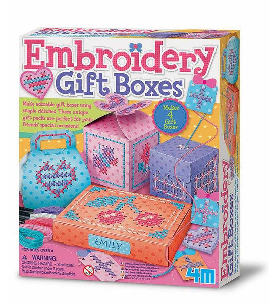 4M Embroidery Gift Boxes Kids DIY Arts & Craft Kit