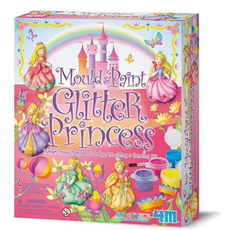 4M Mould & Paint Glitter Princess Kids DIY Arts & Craft Kit