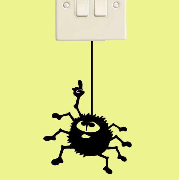 Spider Hanging Switch Wall Decal Sticker