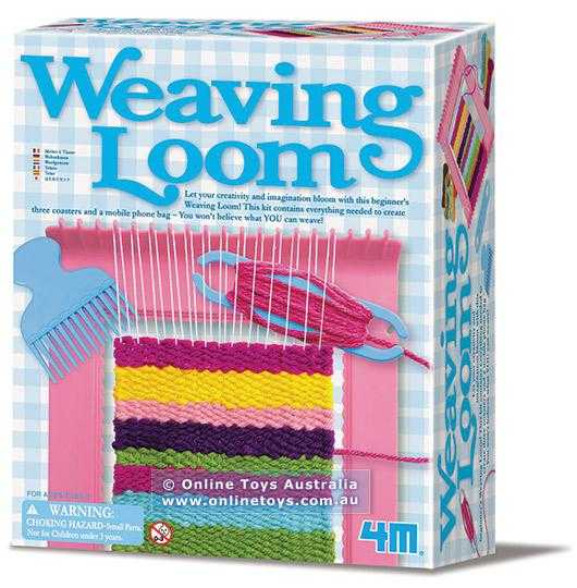 4M Weaving Loom Kids DIY Arts & Craft Kit