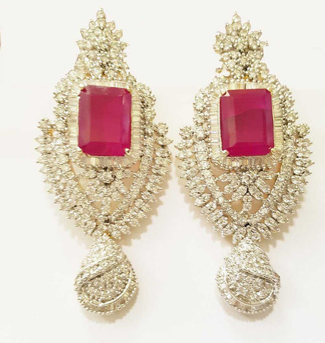 Zircon and Precious Ruby Chandeliers