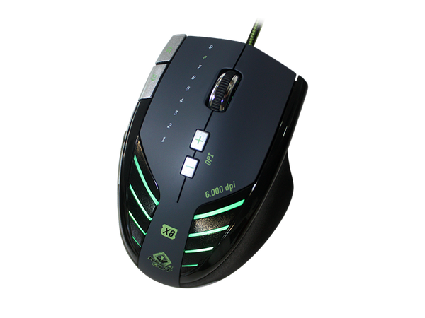 X8 Keep Out Laser Gaming Mouse 6000 DPI and 9 Buttons