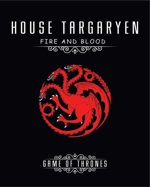 Game of Thrones House Targeryn Fire and Blood Canvas - emarkiz-com.myshopify.com