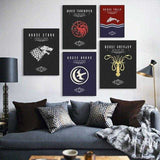 Game of Thrones House Tully Canvas - emarkiz-com.myshopify.com