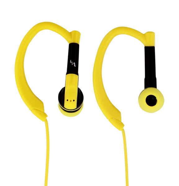 TnB Run-Up Sport Earphones With Hands Free Kit Black Yellow