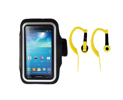TnB Runner Pack Sport Pack With Armband and Earphones Yellow - emarkiz-com.myshopify.com