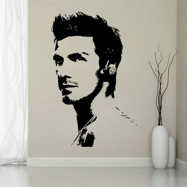 David Beckham Sports Celebrity Football Wall Decal