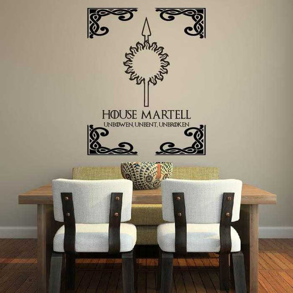 House Martell Game Of Thrones Wall Decal - emarkiz-com.myshopify.com
