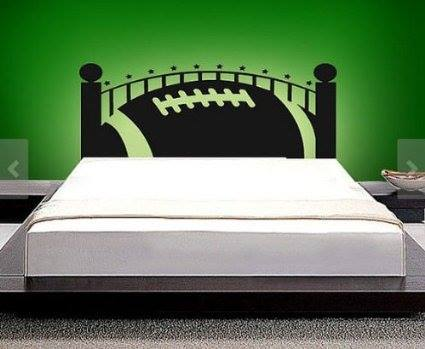 American Football Headboard Wall Decal