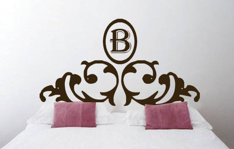 Black B Headboard Wall Decal