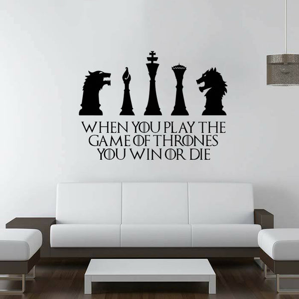 Got Chess Game Of Thrones Wall Decal