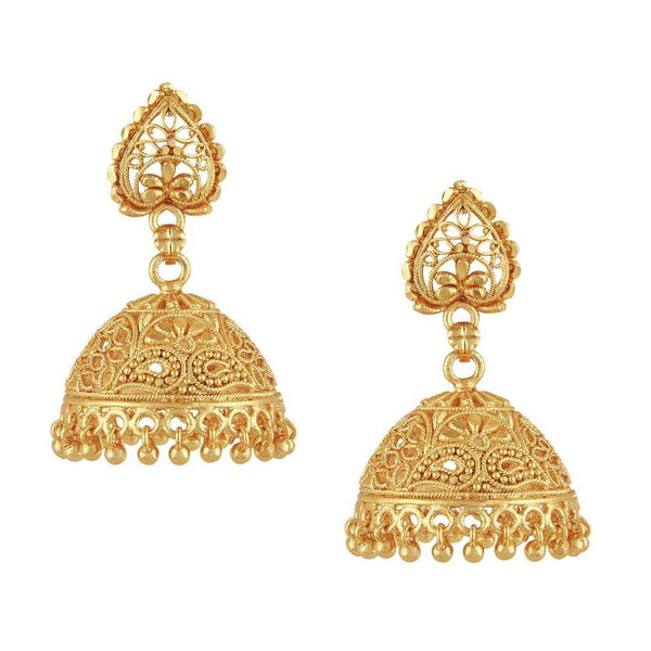 Gold Plated Jhumki Ethnic Earrings