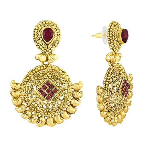 Ethnic Collection Red Ethnic Earrings - emarkiz-com.myshopify.com