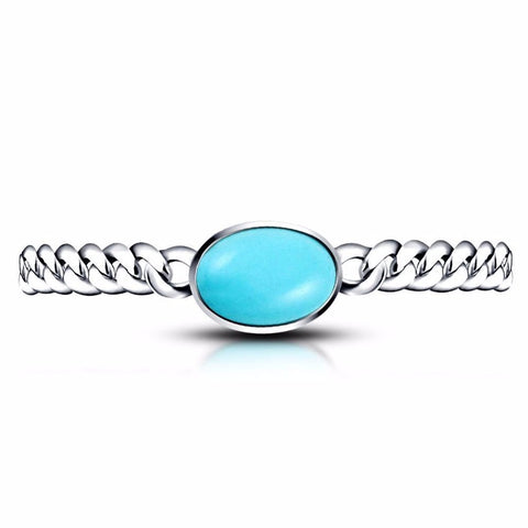 Salman Khan Silver Plated with Turquoise Stone Chain Bracele...
