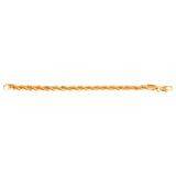 Gold Plated Twisted Bracelet 6mm