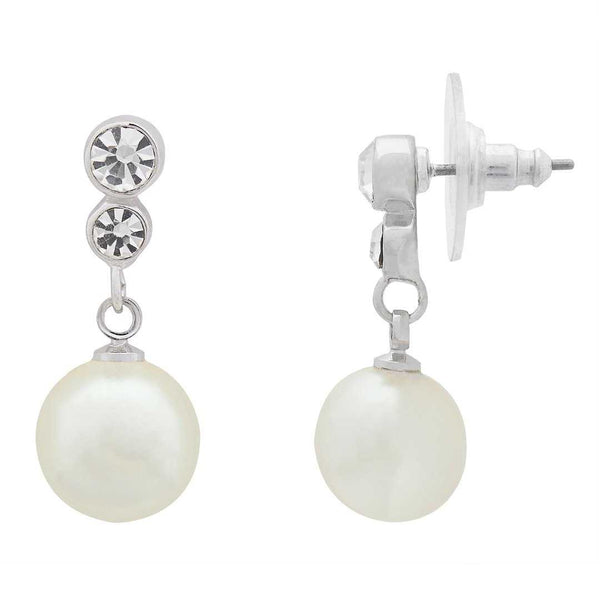 Pearl Drops and Stones Pendant Set with Chain and Earrings - emarkiz-com.myshopify.com