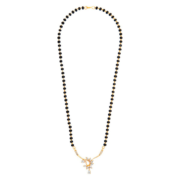 Black beads with Gold pendant Mangalsutra style Necklace 1