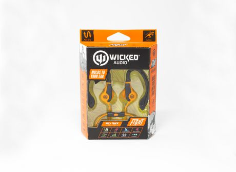 Wicked Audio Fight Noise Isolation Earbuds Earphones in 3 Colors