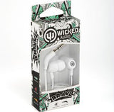 Wicked Audio Brawl Noise Cancellation Earbuds Earphones with Mic