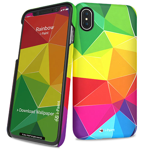 i-Paint iPhone X Rainbow Hard Case - emarkiz-com.myshopify.com