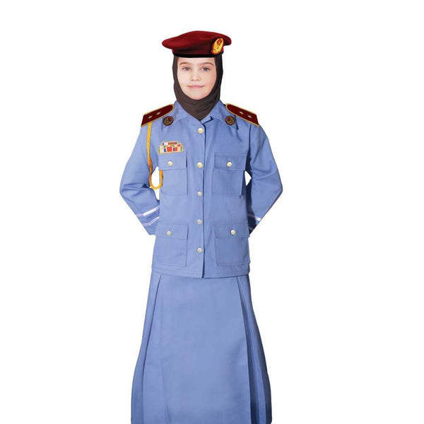 UAE Police Woman Officer Uniform Kids Costume