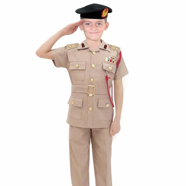 UAE Police Officer Brown Uniform Kids Costume