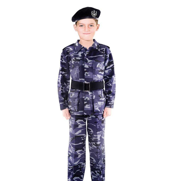 UAE Military Blue Uniform Kids Costume