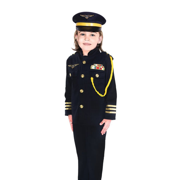 Lady Pilot Uniform Girl Costume with Pants
