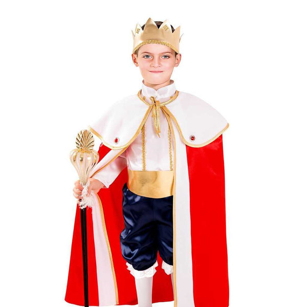 King Costume for Kids White and Red - emarkiz-com.myshopify.com