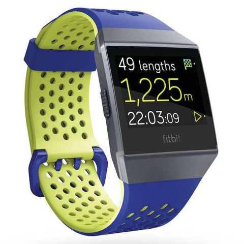 Fitbit Ionic Accessory Sports Band Blue Yellow