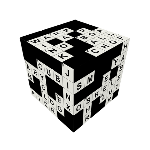 Crossword Cube V-CUBE 3 Flat Cube Toy