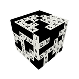V-CUBE 3 Crossword Cube Flat Cube Toy